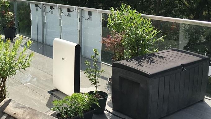 Solaranlage für den Balkon